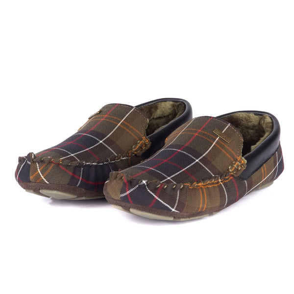 barbour mens tartan slippers countryside clothing