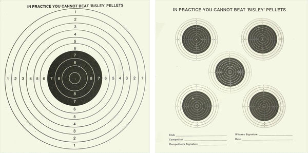 Pack of 25 and one Bull target Grade 1