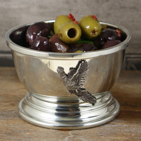 Pheasant Pewter Nut Bowl