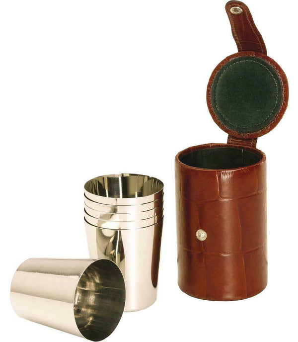 5oz 6 Cup Set in Croc Leather Case