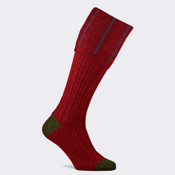 Devonshire Shooting Sock (Cassis)