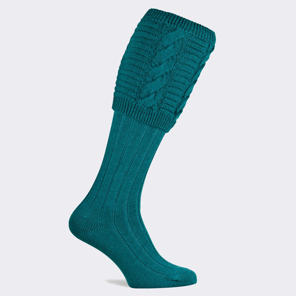 Valiant Shooting Sock Turquoise