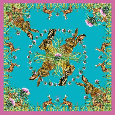 Silk Pocket Square (Turquoise)