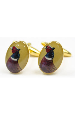 Pheasant Head Cuff links