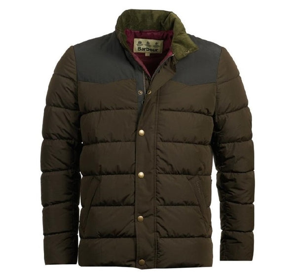 Barbour mens stevenson olive jacket
