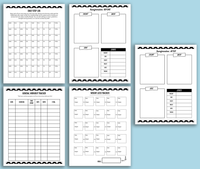 Healthy Living Printable Planner (Color + Black & White} - [122 pages]