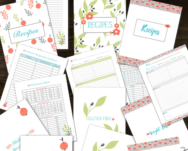 This is a picture of Free Printable Recipe Binder Kit inside grandma recipe