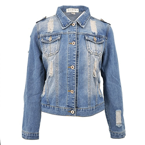 2018 Oversize Ladies Denim Jacket-Fox Cools
