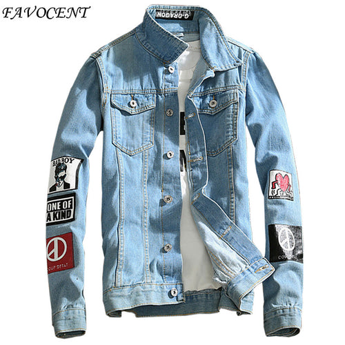 2018 New Denim Men Jacket-Fox Cools