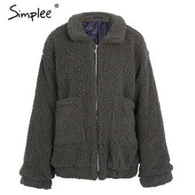 Load image into Gallery viewer, Lambswool Ladies oversized Winter jacket-Fox Cools
