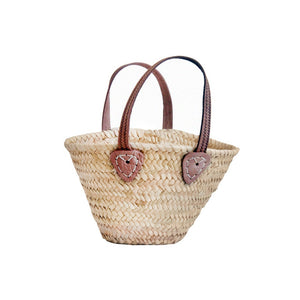 Small Flat Handle Sewing Basket