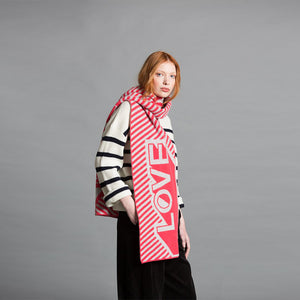 Love Blanket Scarf - Coral & Silver