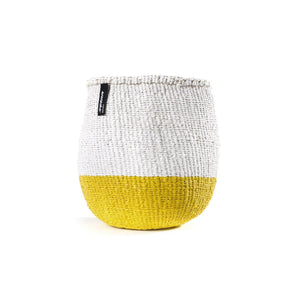 White & Yellow Mifuko Basket - Small