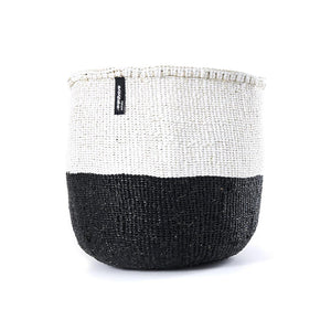 White & Black Mifuko Basket - Medium