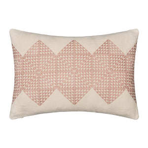 Geotile Cushion Cover - Dusky Pink