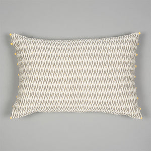 Ikat Cushion - Grey & Ecru