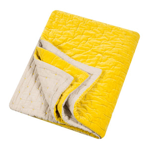 Velvet Throw - Chartreuse