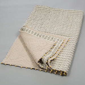 Ikat Throw - Grey & Ecru