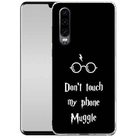 Handyhülle mit dem Design Dont touch my phone muggle Huawei P30 Hardcase jetzt kaufen bei Finoo GmbH & Co. KG