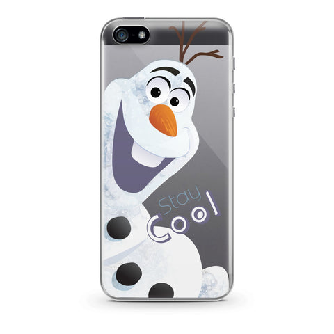 Handyhülle mit dem Design Olaf Stay Cool Iphone 5 / 5S / SE Silikon jetzt kaufen bei Finoo GmbH & Co. KG