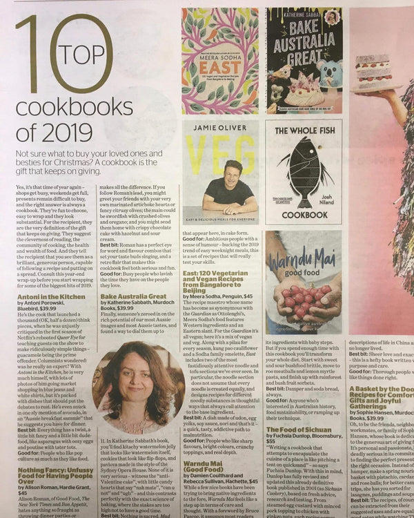 The Age 2019 Top Ten cookbooks features warndu mai