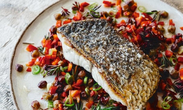 Warndu Mai's barramundi fillets with muntrie salsa recipe