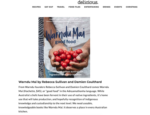 Warndu Mai selected as top cookbook of 2019 in Delicious Mag