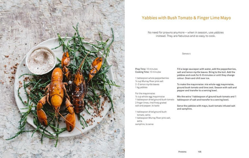 Warndu Mai Yabbies with Bush Tomato and Finger Lime Recipe example page