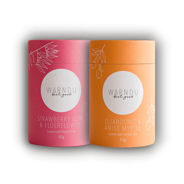 Warndu Australian Native, Afternoon Tea Twin Pack.