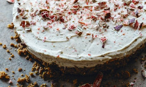 Warndu Mai's finger lime and lemon myrtle cheesecake