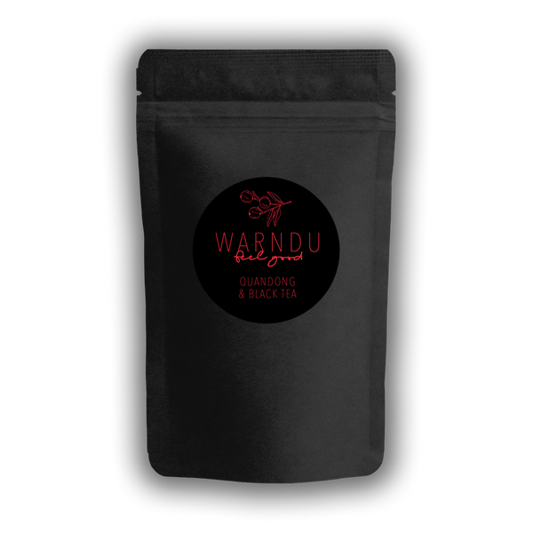Warndu Australian Native, Quandong and Black loose leaf Tea. 50g.
