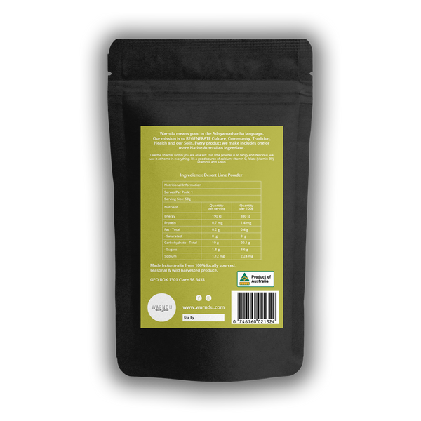 Warndu Australian Native, Desert Lime ~ Freeze dried powder or Dried whole. 50g.