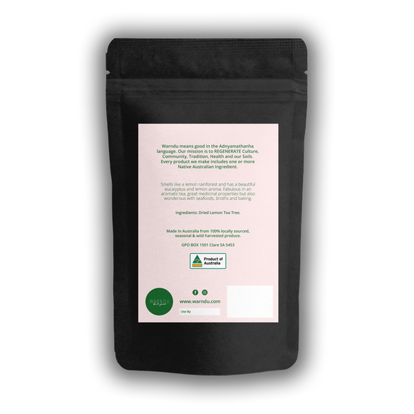 Warndu | Lemon Tea Tree ~ Dried and Ground. 100gWarndu Australian Native, Lemon Tea Tree ~ Dried and Ground. 100g.