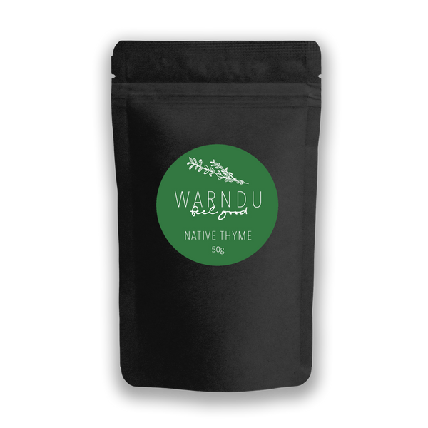 Warndu Australian Native, Native Thyme ~ Dried and ground. 50g.