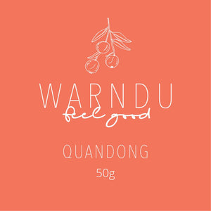 Warndu Premium Freeze Dried Quandong Spice 50g Kibble Label
