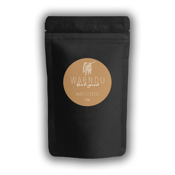 Warndu Australian Native, Wattleseed ~ Roasted and ground. 50g.