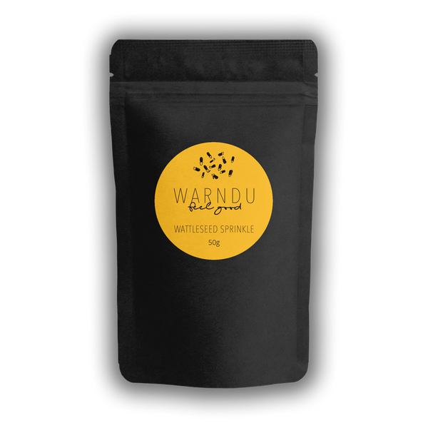 Warndu Australian Native, Wattleseed Sprinkle ~ Fresh and whole. 50g.