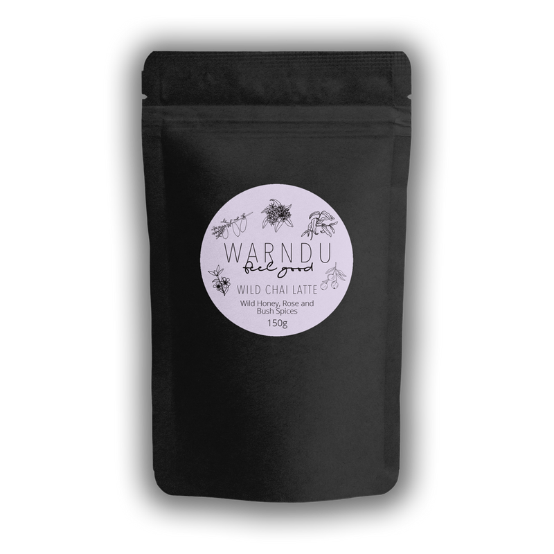 Warndu Australian Native, Wild Chai Latte ~ Wild Manuka Honey, Rose & Bush Spices. 150g.