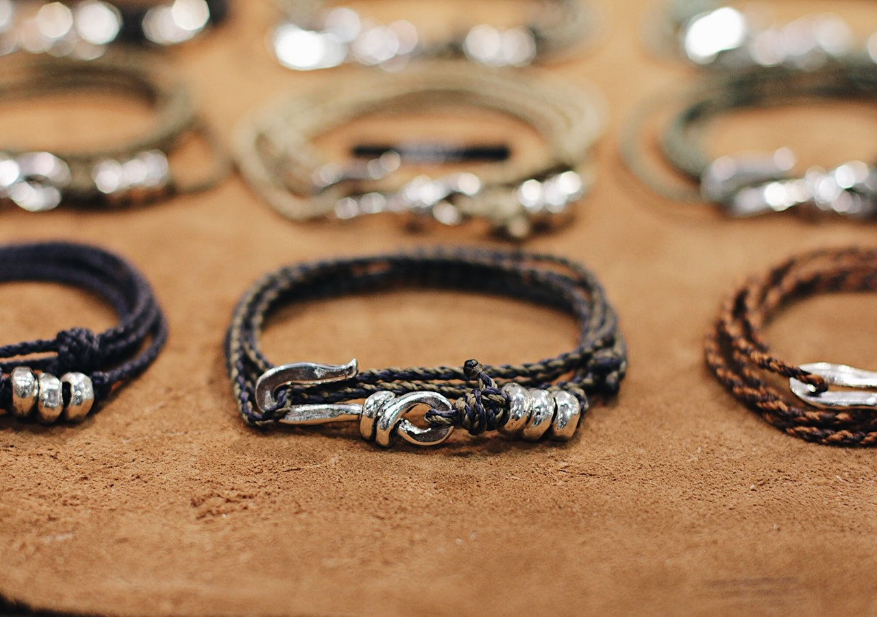 Men's Sterling Silver Hook Bracelets