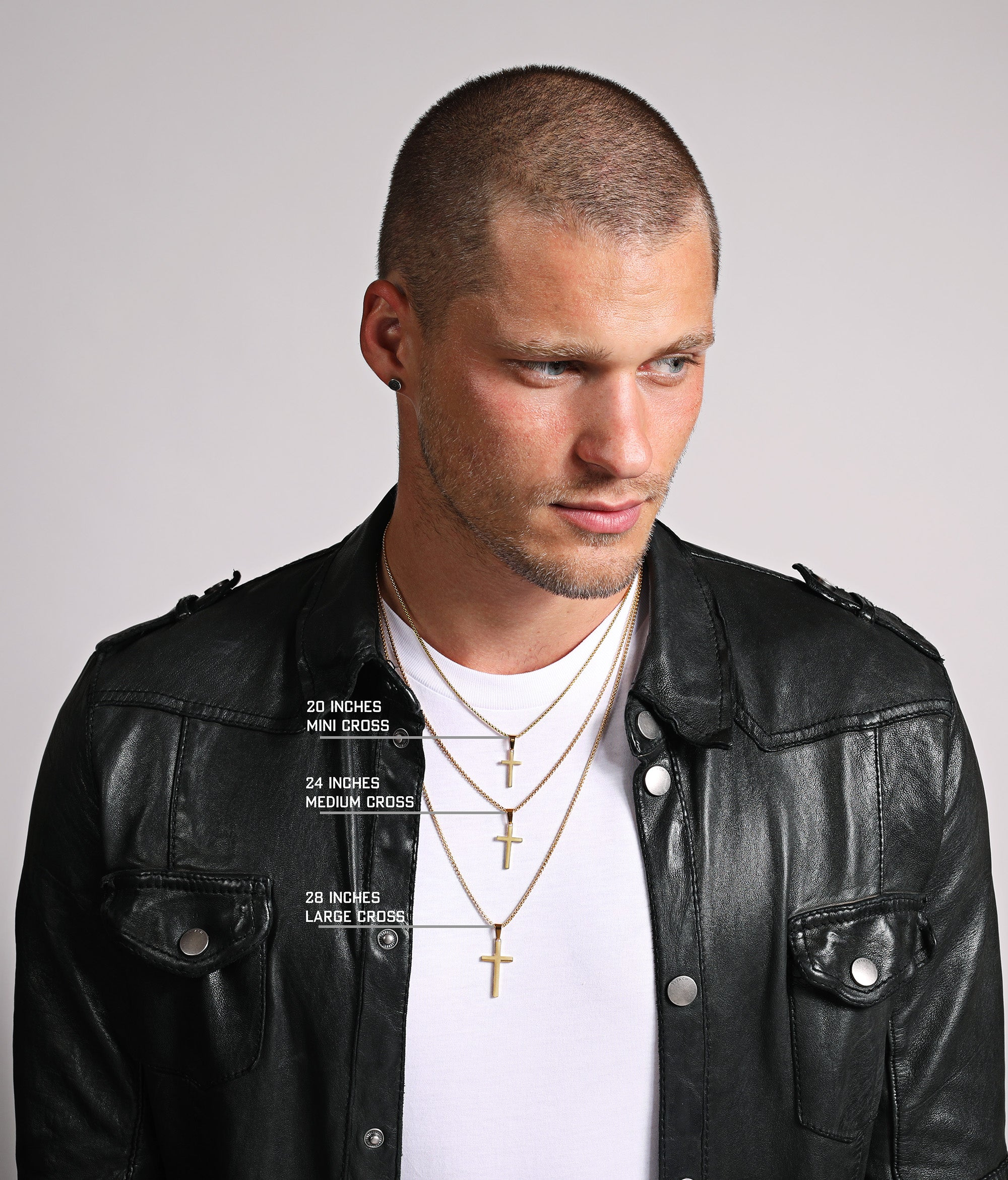 Men's Gold Cross Necklaces