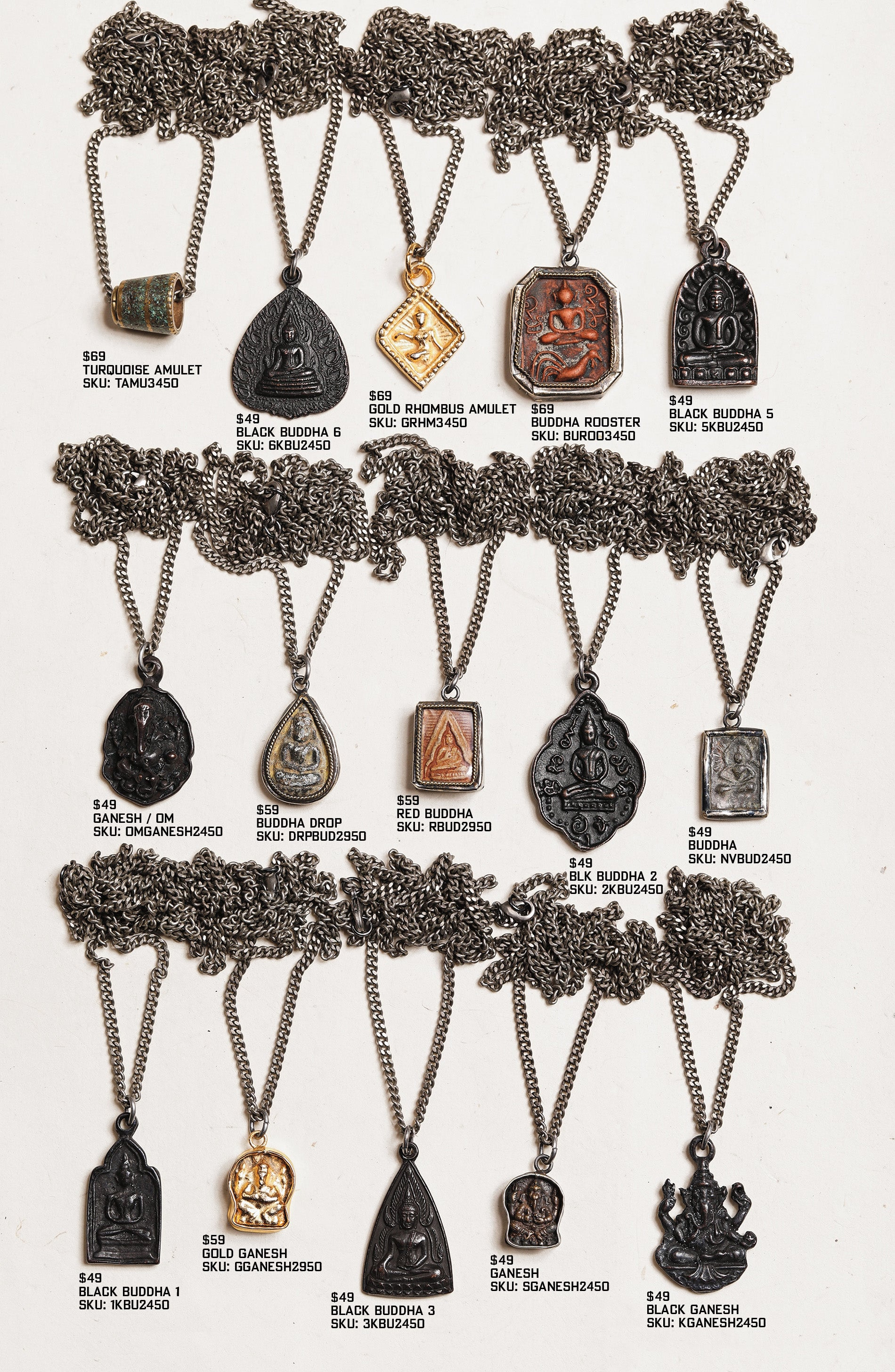 Men's Buddha Amulet Necklaces