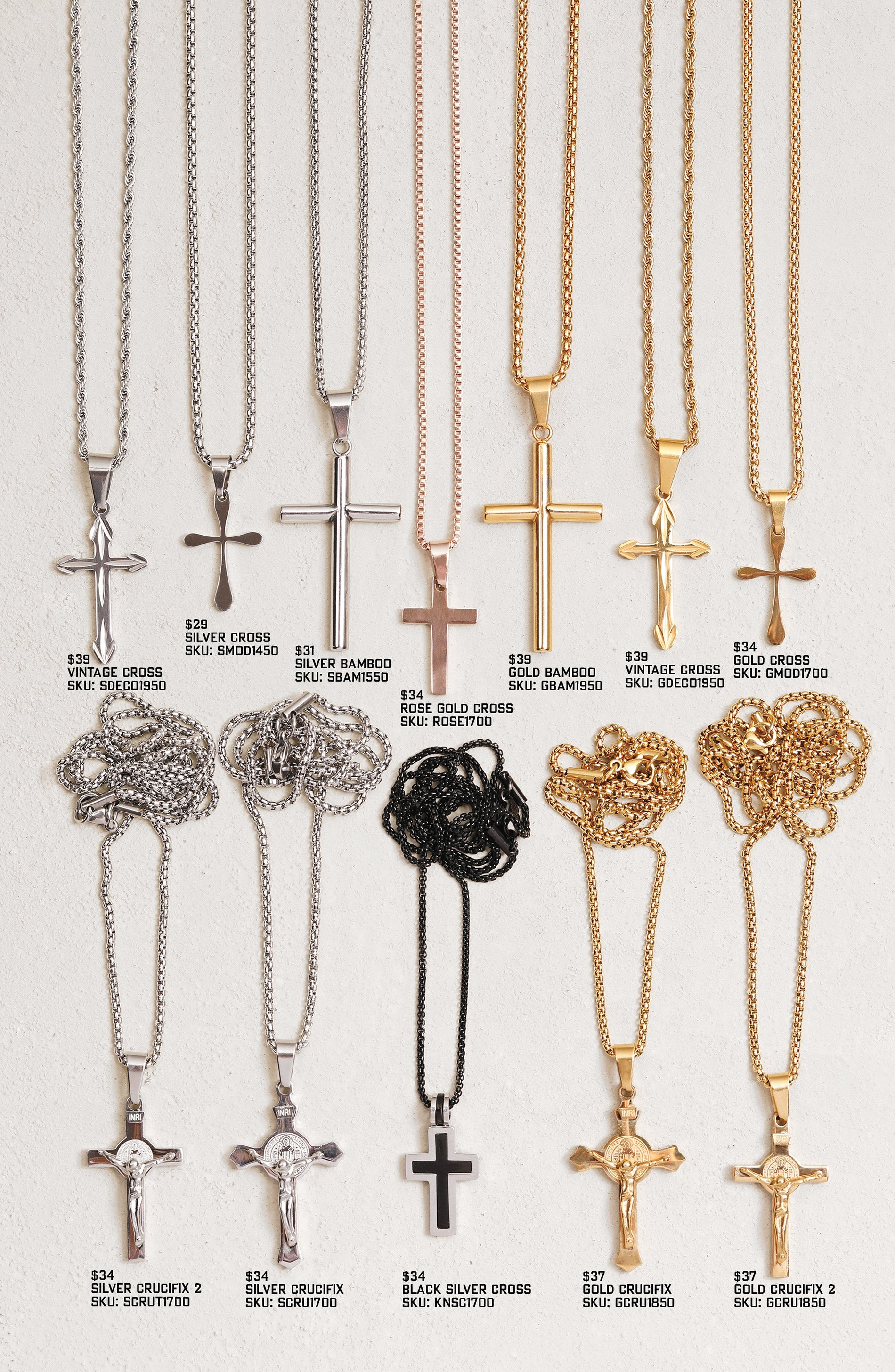 Men's Cross Necklaces