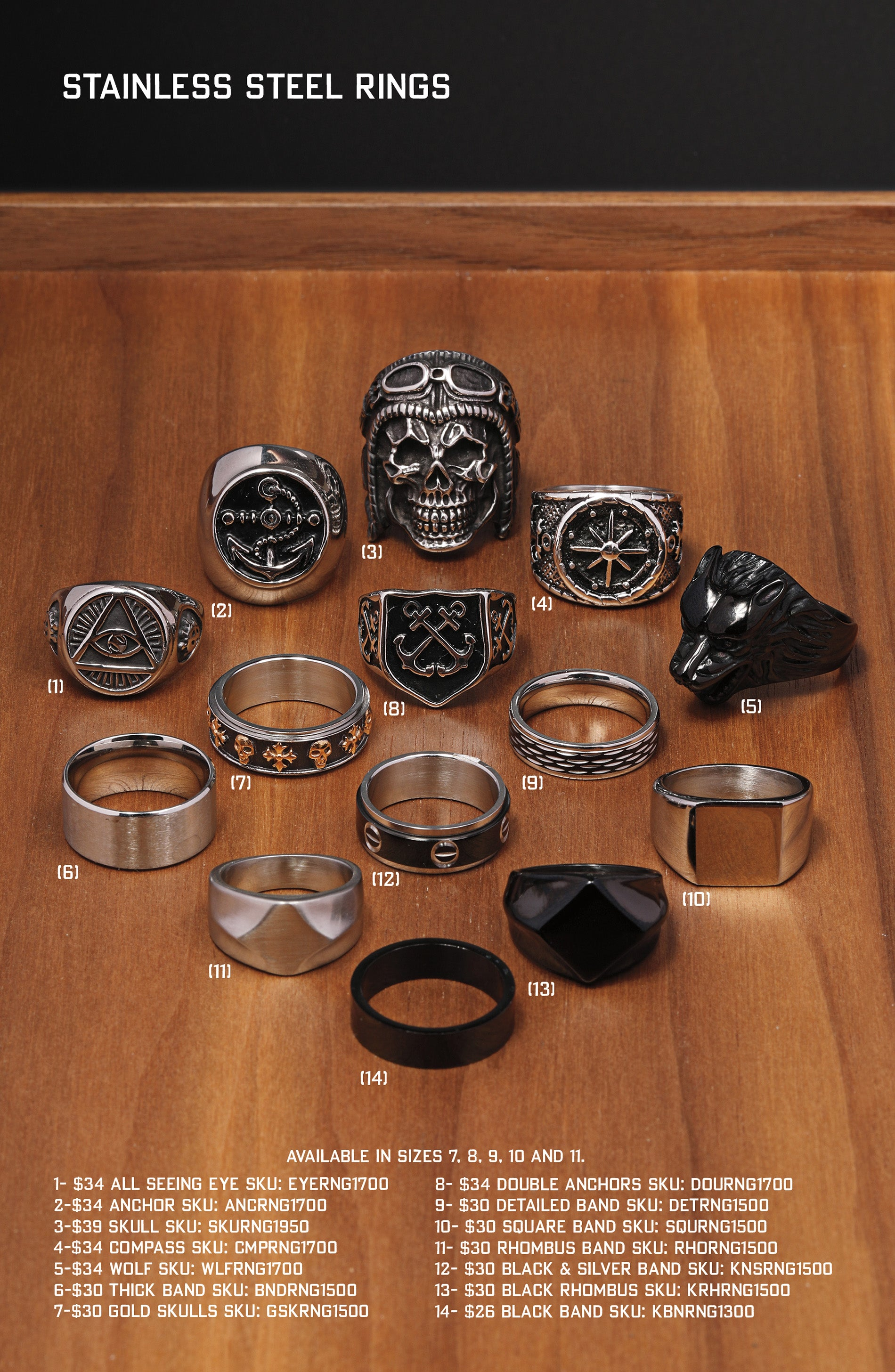 Men's Jewelry Ring Catalog