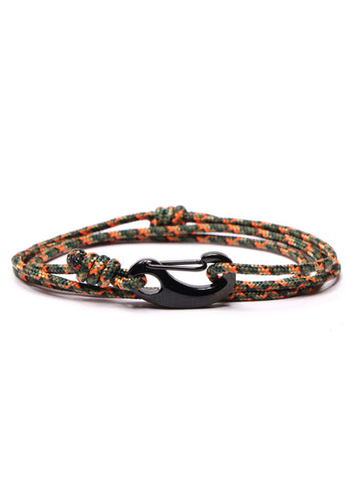 Camo Tactical Cord Bracelet for Men (Black Clasp)