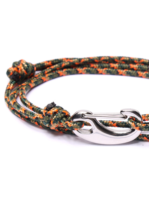 Camo Tactical Cord Bracelet for Men (Silver Clasp - 11S)