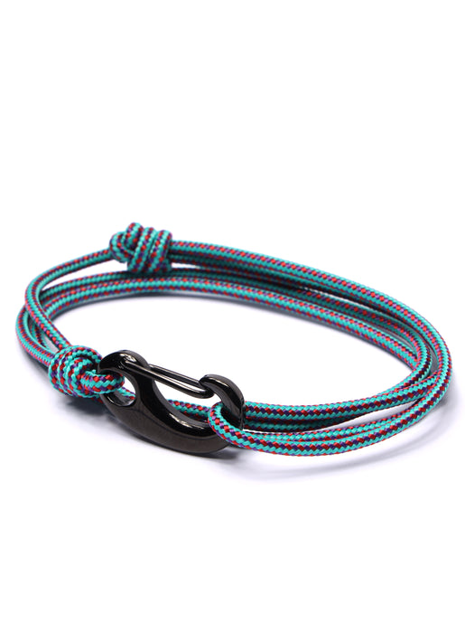 Aqua Tactical Cord Bracelet for Men (Black Clasp)