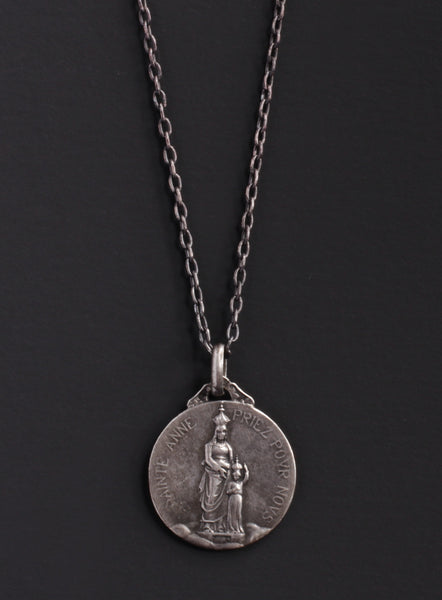 Medal coin necklaces we are all smith mens jewelry clothing sainte anne vintage french medal necklace for men aloadofball