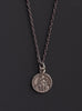 Silver Medal Necklace for Men