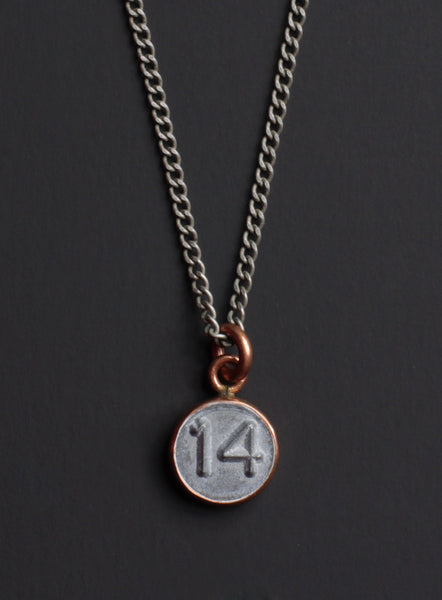 "Number ""14"" necklace"