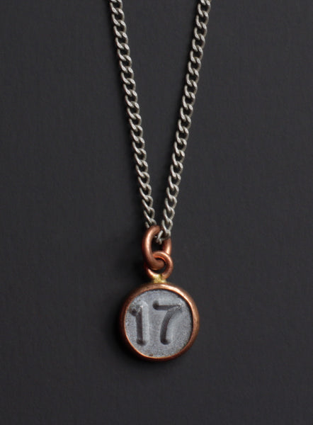 number 17 pendant